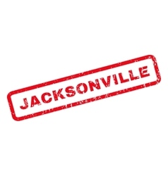 Jacksonville Rubber Stamp vector