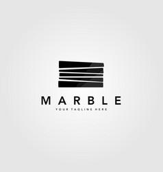 minimalist pile marble stone logo design vector image