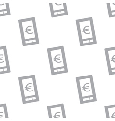 New Euro phone seamless pattern vector image