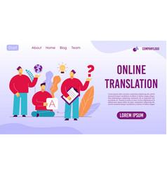 Online translation foreign language interpreter vector
