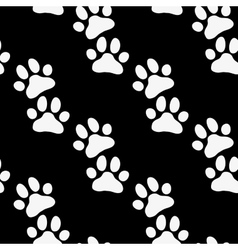Paw zoo pattern black and white for zoo vector