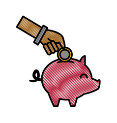 piggy savings symbol vector image