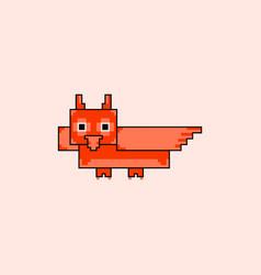 Pixel little owl vector