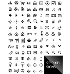 pixel web icons vector image