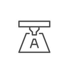 printing process line icon vector image
