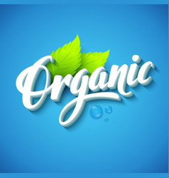 Realistic organic logo vector image