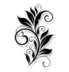 Retro floral element vector image