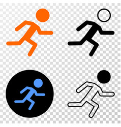 running boy eps icon with contour version vector image