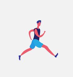 running man cartoon character sportsman activities vector image
