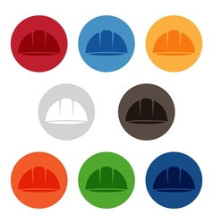 Set of abstract icon design template of worker vector image