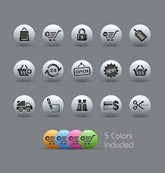 Shopping Icons Pearly Series vector image