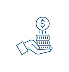 Sponsorship money line icon concept sponsorship vector