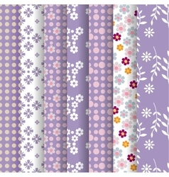 spring lavender seamless pattern vector image