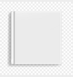 Square book notebook or organizer cover template vector
