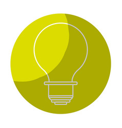 Sticker energy light bulb icon vector