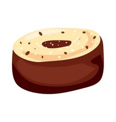 Taste truffle icon cartoon style vector