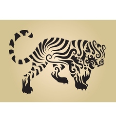 Tiger ornament decoration 3 vector image vector image