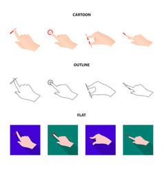 Touchscreen and hand logo vector