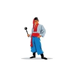 Ukrainian Cossak in national traditional costume vector image
