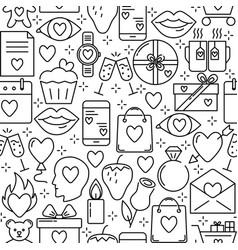 valentines day romantic seamless pattern with vector image