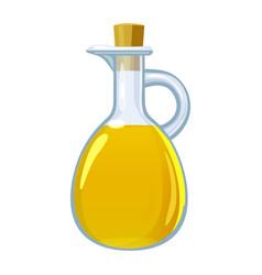 Vinegar in glass bottle vector