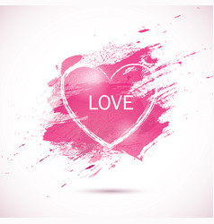 Watercolor-pink-love vector