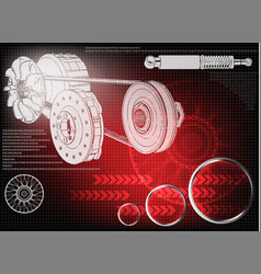 wheel and engine vector image