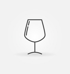 Wine glass simple icon vector