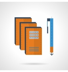 Writing flat color icon vector image vector image