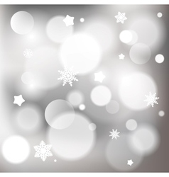 Abstract christmas background with shiny bokeh vector image