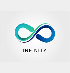 Colorful abstract infinity icon vector