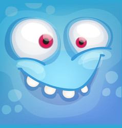 monster face vector image vector image