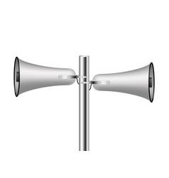 old loudspeaker system in silver design vector image vector image