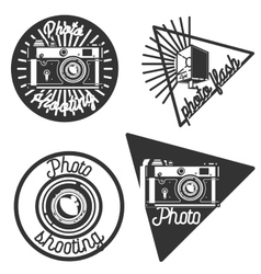 Vintage photographer emblems vector image