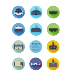 Virtual and augmented reality icons vector image