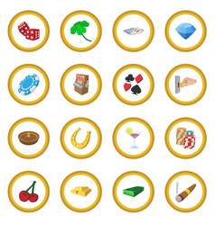 casino cartoon icon circle vector image