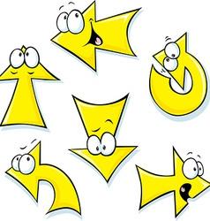 set of cartoon arrows vector image