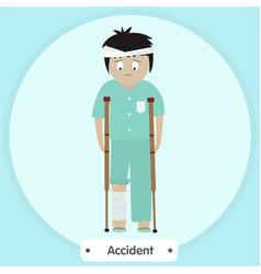 broken legs vector image vector image