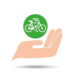 environment friendly concept bicycle vector image