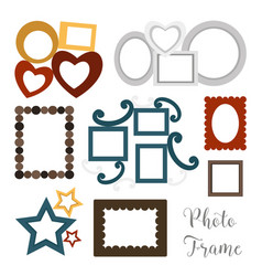 hand drawn photoframes vector image vector image