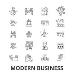 modern business management marketing plan vector image vector image