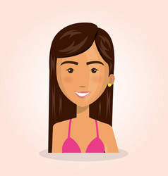 young woman lifestyle avatar vector image vector image