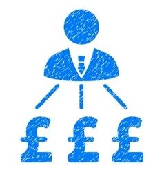 Businessman pound expenses grainy texture icon vector