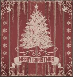 Rustic Vintage Christmas Card vector image vector image