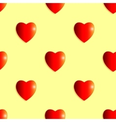 Seamless background of shiny hearts vector image vector image
