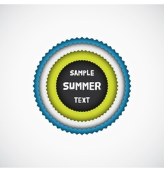 Summer colorful star badge vector image vector image