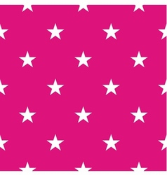 Tile pattern with white stars on pink background vector image vector image
