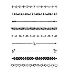 0028 hand drawn dividers vector image
