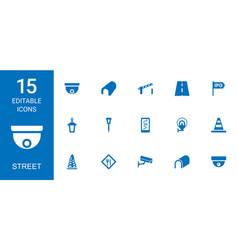 15 street icons vector