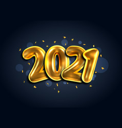 2021 happy new year banner golden luxury text vector image
